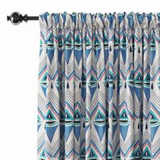 Abstract Print Polyester Linen Curtain Drapery ELIZABETH