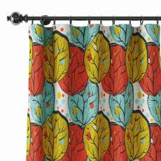 Abstract Print Polyester Linen Curtain Drapery ELOISE