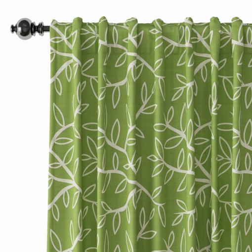 Abstract Print Polyester Linen Curtain Drapery GENEVIEVE