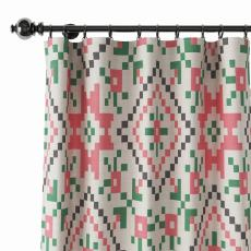 Abstract Print Polyester Linen Curtain Drapery ELENOR