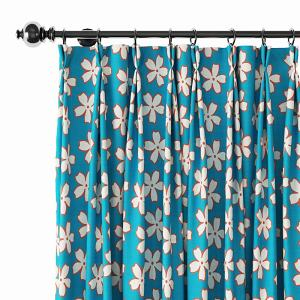 Abstract Print Polyester Linen Curtain Drapery ELODIE