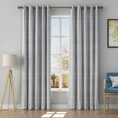 Solid Jacquard Diamond Curtain Drapery IMOGEN