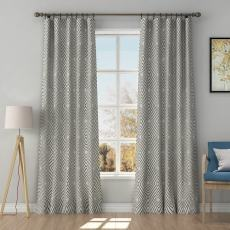 Solid Jacquard Diamond Curtain Drapery POSIE