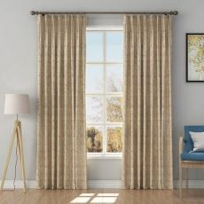 Solid Jacquard Diamond Curtain Drapery OLIVIA