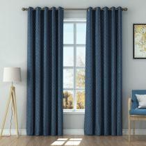 Solid Jacquard Diamond Curtain Drapery AMELIA