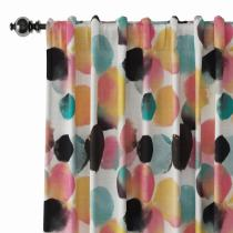 Abstract Print Polyester Linen Curtain Drapery LUCY