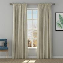 Solid Jacquard Diamond Curtain Drapery MAEVE