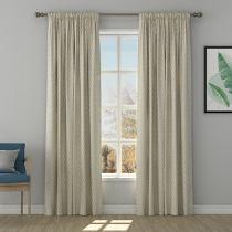 Solid Jacquard Diamond Curtain Drapery MAEVE