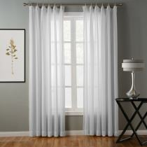 Hollow Mesh Herringbone Polyester Soft Sheer Curtain Drapery GENNY
