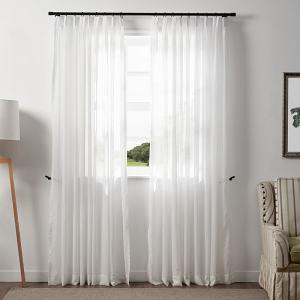 JUSTIN White Sheer Curtain