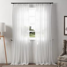 FREY  White Sheer Curtain