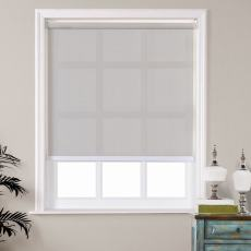 Austin Window Roller Shade with Loop Control PVC Roller Shades 90% Blackout For Bath Living Kitchen Dining Room and Office