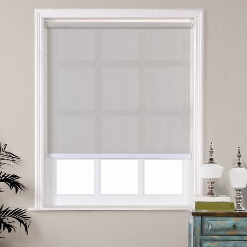 AUSTIN Window Roller Shade with Loop Control PVC Roller Shades 95% Blackout For Bath Living Kitchen Dining Room and Office