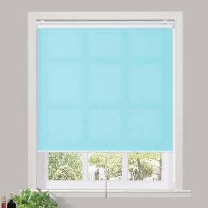 RILEY 60% Blackout Blinds Shade Spring Cordless Roller Shade for Living Dining and Bedroom