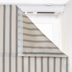 AMELIA Stripe Polyester Cotton Room Darkening Roman Shade