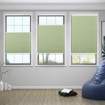 SHELTON Blackout Cellular Shade Top Down Bottom Up Honeycomb Blinds with White Backing Lift Loop Control