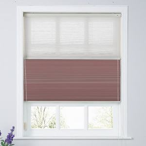 RALPH Cord Lift Blackout TriShades Day/Night Honeycomb Shade with White Backing White Sheer
