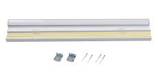 RHODES Cordless Blackout TriShades Day/Night Honeycomb Shade with White Backing White Sheer