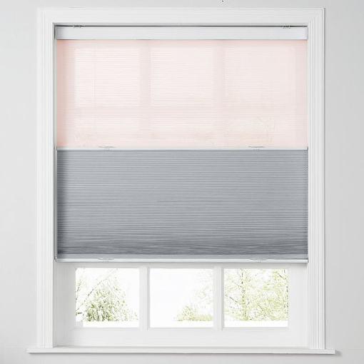 REESE Cordless Blackout TriShades Day/Night Honeycomb Shade Pink Sheer