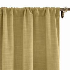 LIZ Polyester Faux Linen Curtain Drapery Custom