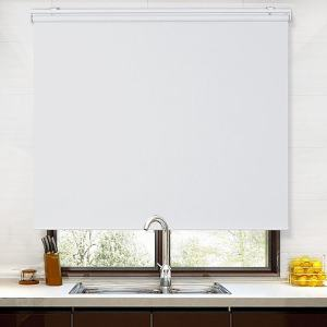 TOBIAS 100% Blackout Blinds Shade Spring Cordless Roller Shade for Living Dining and Bedroom