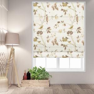 LARISSA Rural Pastoral Print Polyester Cotton Roman Shade
