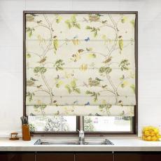 SOPHIA Rural Pastoral Print Polyester Cotton Roman Shade