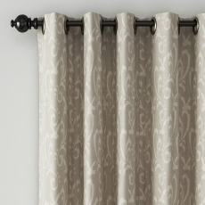 Abstract Print Polyester Linen Curtain Drapery AMY