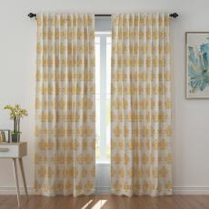 Abstract Print Polyester Linen Curtain Drapery JENNIFER