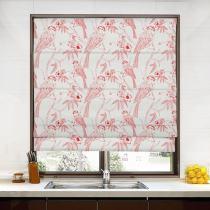SARAH Animal Print Polyester Linen Room Darkening Roman Shade