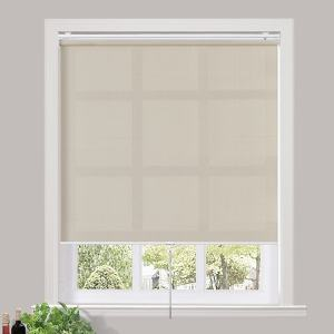 TAYLOR 60% Blackout Blinds Shade Spring Cordless Roller Shade for Living Dining and Bedroom