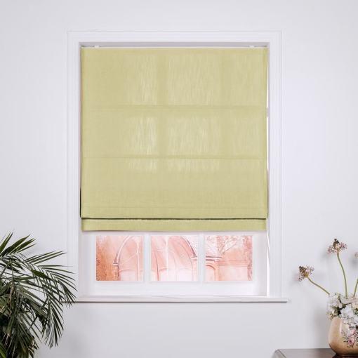 ISABELLA Cotton Linen Polyester Roman Shade