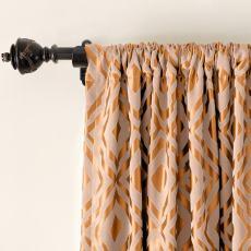 High Density Rhomboid Jacquard Drapery Dust Proof Two-Toned Damask Diamond Curtain NINA