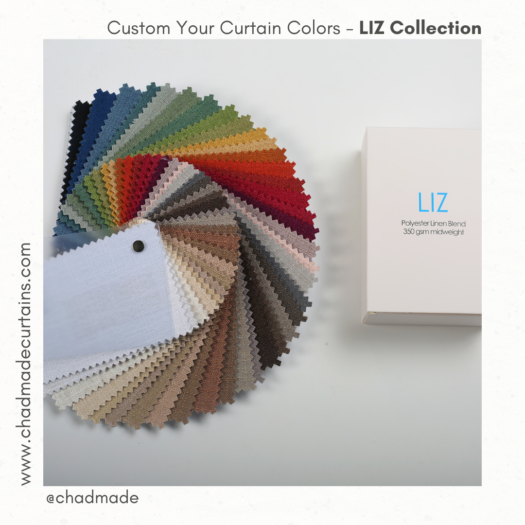 custom your curtain color and fabric LIZ collection