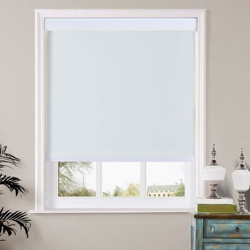 HARLEN Window Roller Shade with Valance Cover Loop Control Roller Shades 100% Blackout For Bath Living Kitchen Dining Room and Office