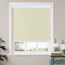 HERBERT Window Blinds Roller Shade with Valance Cover Loop Control 100% Blackout Roller Blind, For Bath Living Kitchen Dining Room and Office