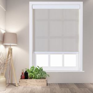HEDDA Window Roller Shade with Valance Cover Loop Control PVC Roller Shades 95% Blackout For Bath Living Kitchen Dining Room and Office
