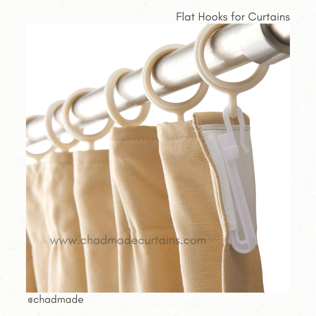 flat hooks for curtains