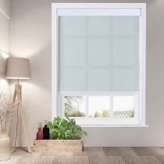 HIRAM Window Roller Shade with Valance Cover Loop Control Roller Shades 100% Blackout For Bath Living Kitchen Dining Room and Office