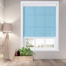 HYMAN Window Roller Shade with Valance Cover Loop Control Light Filtering Roller Shades For Bath Living Kitchen Dining Room and Office