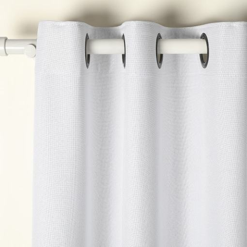 Mayra Polyester Faux Linen Curtain 100% Completely Blocking Sunlight