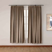 CUSTOM Olive Flax Luxury Textured Faux Linen Curtain