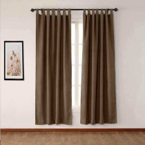 CUSTOM Olive Brown Luxury Textured Faux Linen Curtain