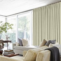 Polyester Cotton Drapery With Blackout Lining Pinch Pleat Curtains Bedroom Windows Short (1 Panel), Kante Collection