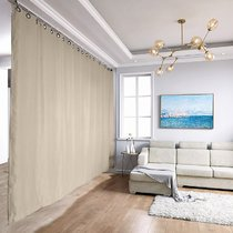 Ceiling Track Room Divider Curtain Kit for Any Space