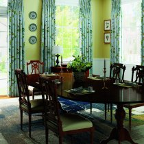 Rural Pastoral Print Window Curtain Panel Luna