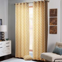 Chevron Insulated Back Cotton Grommet Panel Curtain Isabella