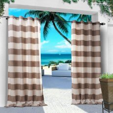 CUSTOM Antique Bronze Grommet Plaid Gingham Check Outdoor Curtain 10 Colors