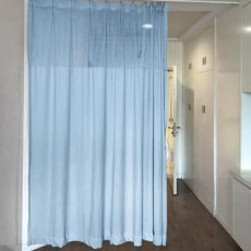 Pinch Pleated For Hospital Medical Clinic SPA Lab Cubicle Curtain Divider Privacy Screen Track