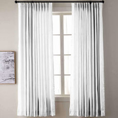 Textured Faux Dupioni Silk Curtain Drapery YUN